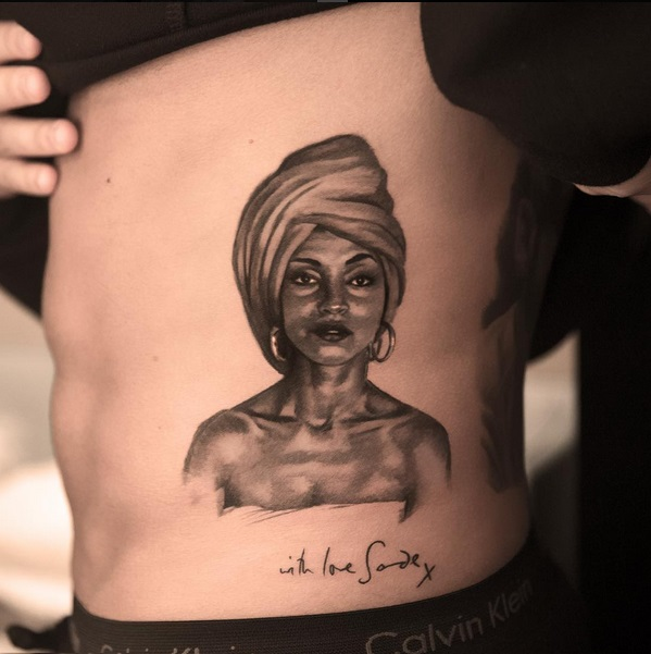 Drake at it Again With a New Portrait Tattoo of English Singer, Sade
