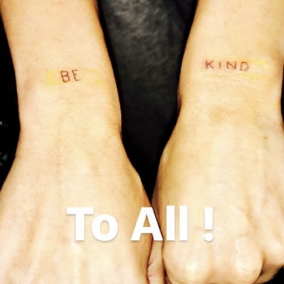 "Miley Cyrus' New Tattoo Reminds Us All to ""Be Kind"""