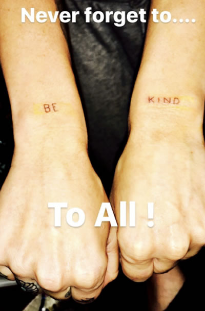 """Miley Cyrus' New Tattoo Reminds Us All to """"Be Kind"""""""